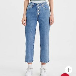 NWT Levi's mike high wide cropped leg jeans